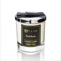 Buy cheap Customized Fragrance White Candle Glass Holder With Sliver Metal Lid from wholesalers