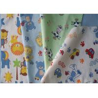 Quality Cartoon Animal Soft Cotton Flannel Cloth Double Sided Easy Decontamination for sale