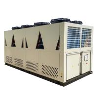 China Water cooling refrigeration equpment 100 tons Air Cooled Screw Chiller with 2 Unit Compressors on sale