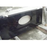China Black Dupont Granite Bathroom Vanity Tops , Granite Overlay Countertops With 1 Faucet  Hole on sale