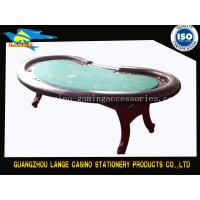 Quality Solid Wood H Leg Casino Texas Holdem Poker Table for sale