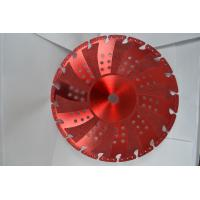 Quality Red Vacuum Brazed Diamond Blades Concrete Cutting Blades With Flange for sale