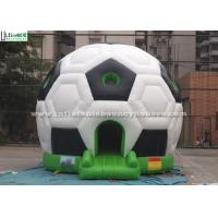 China Football Kids Inflatable Bouncy Castles Amusement park With EN14960 Standard For Rent wholesale