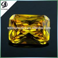 China Hot sale rectangle cutting synthetic cz stone/cubic zirconia stone on sale