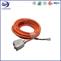 Quality Security Wiring Harness With HanB 10B IP65 Panel Aluminum Connector for sale