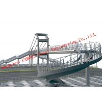 Quality Steel Structure Circular Arc Shape Temporary Pedestrian Bridge for Urban Traffic Solutions for sale