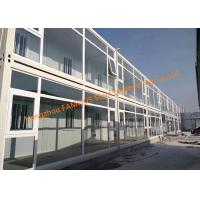 Quality Foldable Flat Pack Prefab Container House With Glass Facade Decoration For Office Use for sale