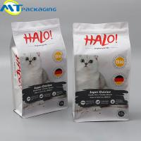 China Aluminium Foil Resealable Food Pouches , Beautiful Pattern Dog Food Bag on sale