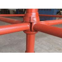 China Q345 Cuplock Scaffolding Materials , Cuplock System Formwork For Building on sale