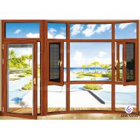 China Heat Insulation 6063-T5 Aluminium Windows And Doors With Stainless Steel Security Mesh on sale