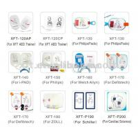Quality Round Shape Medical Defibrillator Pads White PVC With White Conductive Gel for sale