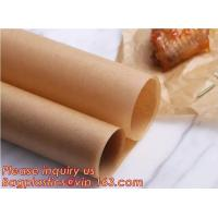 China Bleached with Unbleached Greaseproof Paper for food wrapping,Environmental friendly and green greaseproof food packaging on sale
