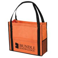 China Personalize Non Woven Sack Bags Eco Friendly Shopping Totes Full Color Printing on sale