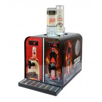 Double Tank Liquor Shot Machine Iron Steel / Stainless Steel With 2 X 900ml Inner Tank