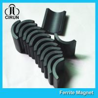 Small Permanent Arc Segment Ferrite Magnet Y25-Y35 For Motorcyceles Motor for sale
