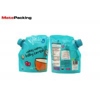 Quality 100% Security Food Grade Spout Pouch Custom Logo Printing Organic Baby Food Pouches for sale