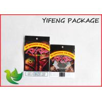 Quality Tobacco Zip Lock Resealable Plastic Bags Custom Printing flat bottom for sale