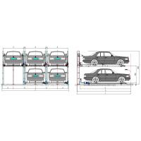 Quality 380V Automated Car Parking Garage , Garage Car Lift System Stainless Steel for sale