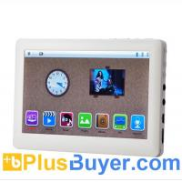 China mediaPad - Full 1080P HD MP4 Player with 5 Inch Touch Screen and FM Radio - White on sale