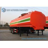 Quality Dilute Hydrochloric Acid  35000 L Chemical Liquid Tank Trailer 3 Axles for sale