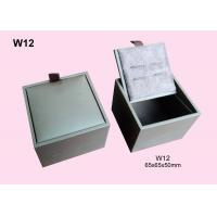 Quality White Fancy Paper Wrapped Wooden Cufflink Box, Gift Packaging Boxes Customized for sale