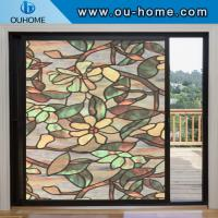 China H836 Stati frosted decorative window film cellophane stained opaque bathroom glass window stickers on sale
