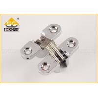 Quality 43*18*13mm Metal Invisible Small Concealed Hinge For Luxury Boxes Cross Hinges For Jewelry Box And Small Box for sale