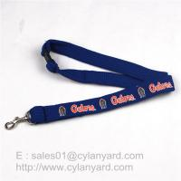Quality Tube Lanyard Neck Ribbon with Metal Rifle Trigger Hook, polyester tubular straps for sale