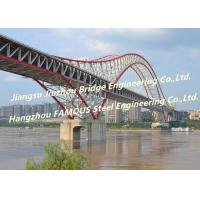 Quality Highway Railway Wire Suspension Bridge , Arch Suspension Bridge Modular Frames Dual Purpose for sale