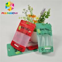 China Custom Printed Plastic Bags Food Grade Packaging Bags With Clear Rectangular Window And Zipper For Reusable Storage on sale