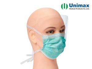 Quality Antifog 3 ply Disposable Surgical Face Mask With tie and Shield for sale