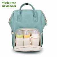 Quality Fashionable Baby Care Nappy Changing Bags , Durable Green Infant Diaper Bag for sale