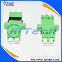 Quality Telecom LC / APC Fiber Optic Adapter With Flange Green Color for sale
