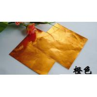 Quality Laminated Chocolate Aluminum Foil Pre Cut Colored Embossed Printing for sale