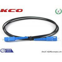 Quality SC / UPC  - SC / UPC Single Mode Simplex FTTH Fiber Optic Patch Cord Black Cover for sale
