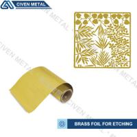 Quality Soft Annealed C26000 C27000 Rolled Brass Foil Roll For Heating Foils / Lamination for sale