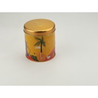 Quality 4C Printing Round 0.23mm Thickness Tinplate Coffee Tin Box for sale