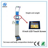 Quality Ultrasonic height weight scales with blood pressure , temperature, fat mass  for medical  Equipment for sale