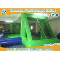 China Portable Green / Blue Inflatable Football Pitch For Kids And Adults on sale