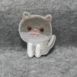 custom baby clothing cat design animal cartoon embroidery iron on patch