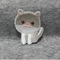 Buy custom baby clothing cat design animal cartoon embroidery iron on patch at wholesale prices
