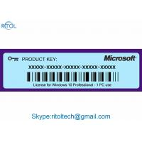 Quality Product Key Code for Windows 10 , Windows 10 Pro Original Product Key 64 Bit for sale