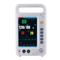 China 7 Inch Color Screen Multi Parameter Patient With 4 Standard Parameters ECG, NIBP, SpO2, RESP Built-in Lithium Battery on sale