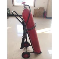 Quality 10 kg Wheeled Co2 Fire Extinguisher With Alloy Steel Cylinder / Brass Valve for sale