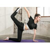 Quality Black Color Women Sportswear Suits Lycra Material Offset Printing For Yoga Sports for sale