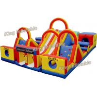China Colorful 14 * 10m Inflatable Sports Games With Slide And Climbing For Park on sale