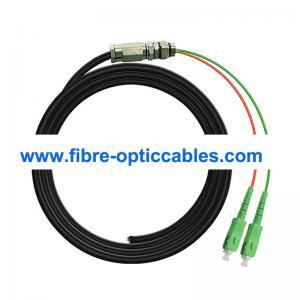 Quality 2 Core LSHZ OS2 Waterproof Fiber Optic Cable SC APC Optical Fiber Pigtail for sale
