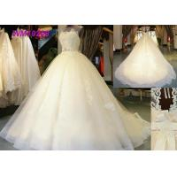 Quality Custom Made Sleeveless Female Wedding Dress Tulle Open Back Princess Design for sale