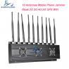 Buy cheap 10 Antennas 4G 5G Mobile Phone Signal Jammer VHF UHF Blocker 24 Hours Working from wholesalers