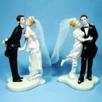 Quality Polyresin Craft for Wedding Decoration, Customized Designs are Welcome for sale
